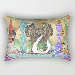 Tiki Hide & Seek Rectangular Pillow