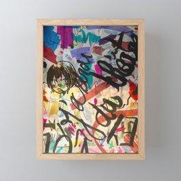 Graffiti Street Art Marker and Writing Framed Mini Art Print