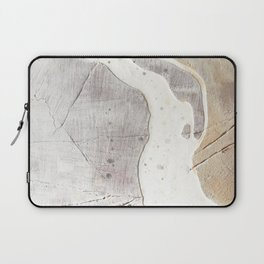 Feels: a neutral, textured, abstract piece in whites by Alyssa Hamilton Art Laptop Sleeve