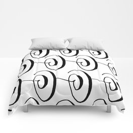 Curly Pattern 06 Comforters