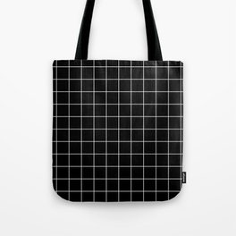 12 Grid Black White Minimal Modern Boho Tote Bag