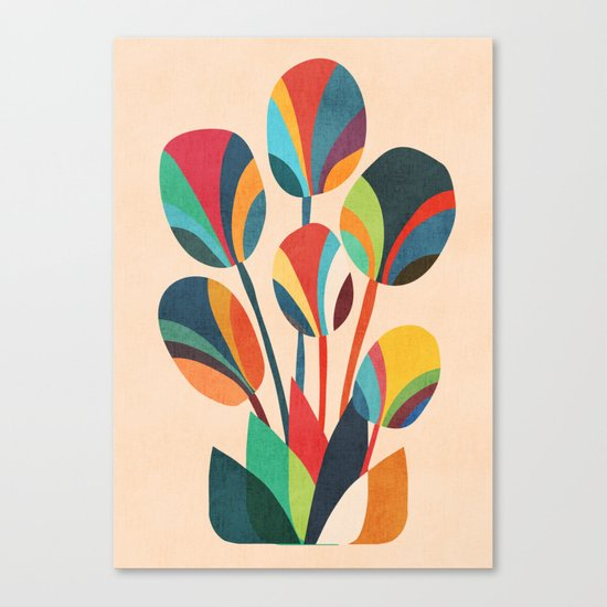 Ikebana - Geometric flower Canvas Print