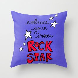 Embrace Your Inner Rock Star Throw Pillow