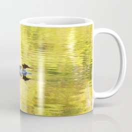 Bird's Family Happiness - Lake Reflection - Summer Scene #decor #society6 #buyart Coffee Mug