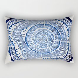 Growth Rings – 65 Years – Navy Rectangular Pillow