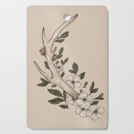 Floral Antler Cutting Board