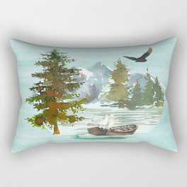 Forest Scenery Landscape Rectangular Pillow