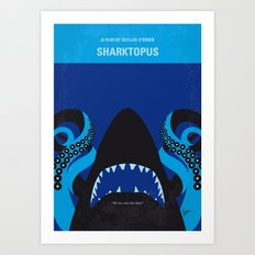 No485 My Sharktopus minimal movie poster Art Print