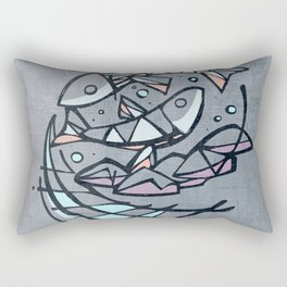 Five breads and two fishes, religious illustration Rectangular Pillow