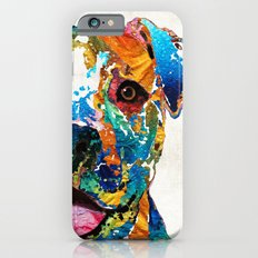 Colorful Dog Pit Bull Art - Happy - By Sharon Cummings iPhone 6 Slim Case