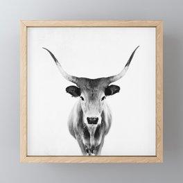Honey - black and white Framed Mini Art Print
