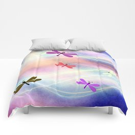 Abstract Dragonflys Comforters