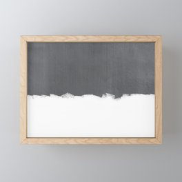 White Paint on Concrete Framed Mini Art Print