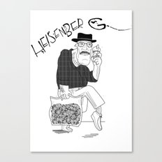 Fear and Loathing in Albuquerque (Breaking Bad) B&W Canvas Print