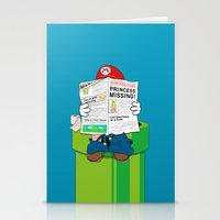 mario Stationery Cards featuring Mario by Altay