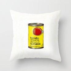 No Name Brand Tomato Soup Throw Pillow