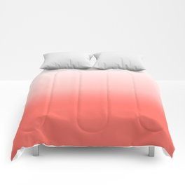 Living coral to white Comforters
