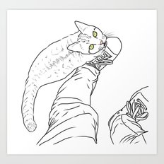 Everything I know I learned from my cat Art Print
