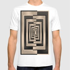 Abstract Pattern Mens Fitted Tee White MEDIUM