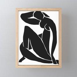 Matisse Cut Out Figure #2 Black Framed Mini Art Print