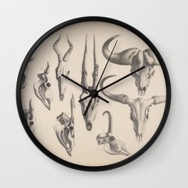 Antlers And Horns Wall Clock