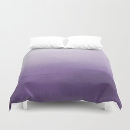 Inspired by Pantone Chive Blossom Purple 18-3634 Watercolor Abstract Art Duvet Cover