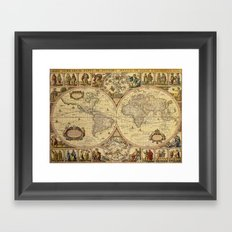 The puzzled world Framed Art Print