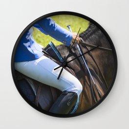 Horse Jumping I Wall Clock