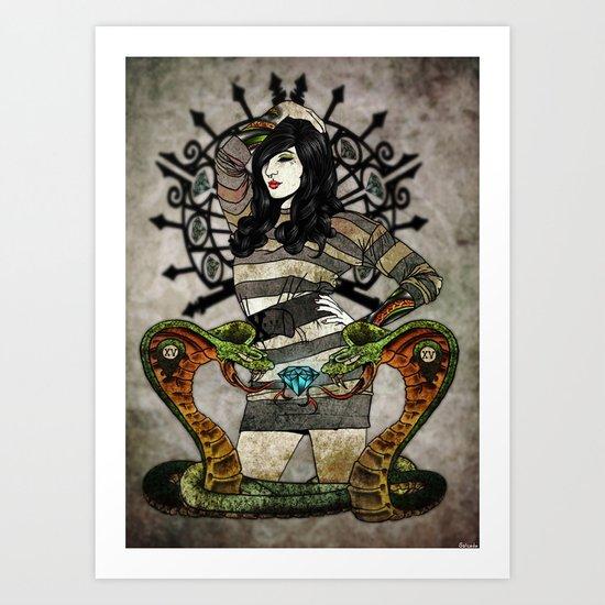 Cobra Carbon Art Print
