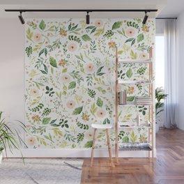 Botanical Spring Flowers Wall Mural