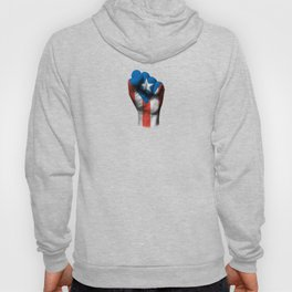 Puerto Rican Flag on a Raised Clenched Fist Hoody