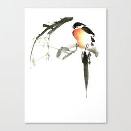 Chinese Shui-mo(水墨)- Bird Canvas Print