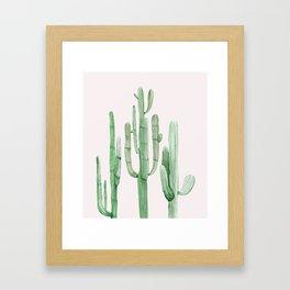 Three Amigos Pink + Green Framed Art Print