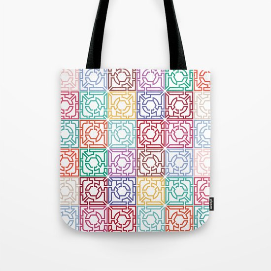 Maze Colorful Seamless Pattern Tote Bag
