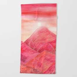 Lines in the mountains XXIII Beach Towel