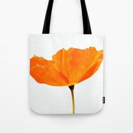 One And Only - Orange Poppy White Background #decor #society6#buyart Tote Bag