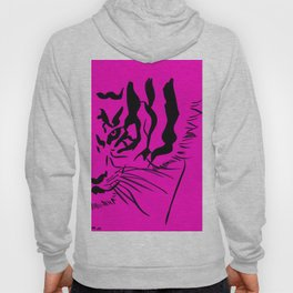 Eye of the Tiger - Pink & Black Hoody