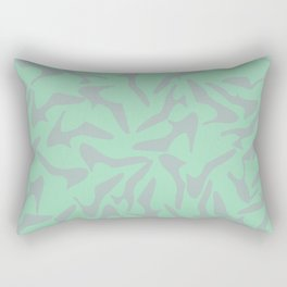 Shoes Zoom Mint and Grey Rectangular Pillow