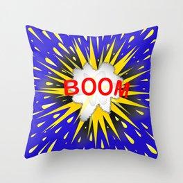 Boom Cartoon Bubble Throw Pillow