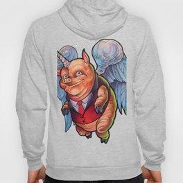 Flying Business Pig Hoody
