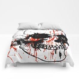 Skull | Skull head | Human skull | Skull love | Goth aesthetic | Bones | Skull decor | Skull design Comforters