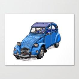 Blue 2CV Canvas Print