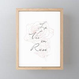 La Vie eu Rose Framed Mini Art Print