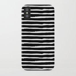 Hand Drawn Stripes iPhone Case