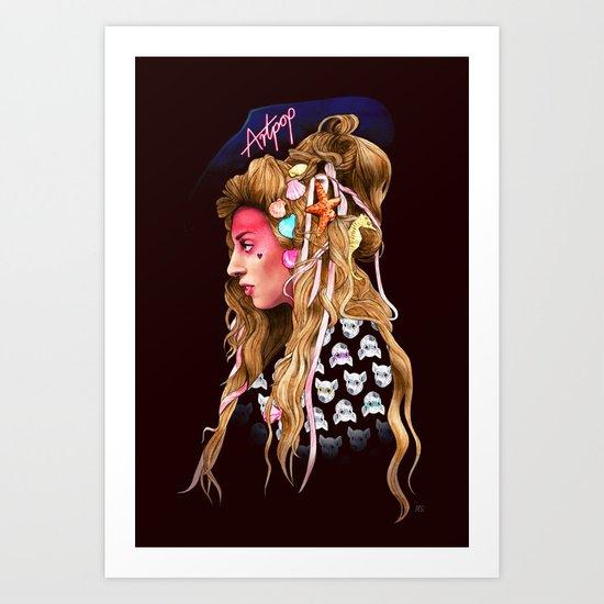 Neon Artpop Art Print