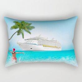 Christmas holidays on Caribbean cruise Rectangular Pillow