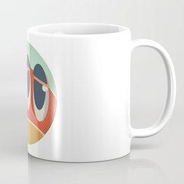 Cute Monster Sticker Coffee Mug
