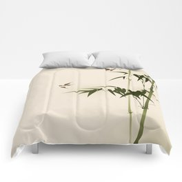 Oriental style bamboo branches 001 Comforters
