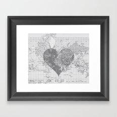 Love Each Other Framed Art Print