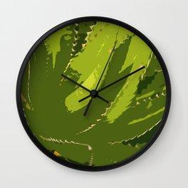 Sawtooth Leafed Aloe Vera Wall Clock